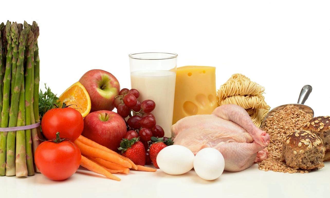 alimentos de todos los grupos