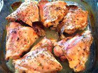muslos de pollo al horno receta