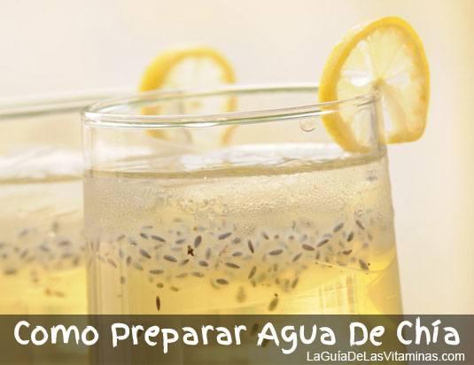 Como Preparar Agua De Chia