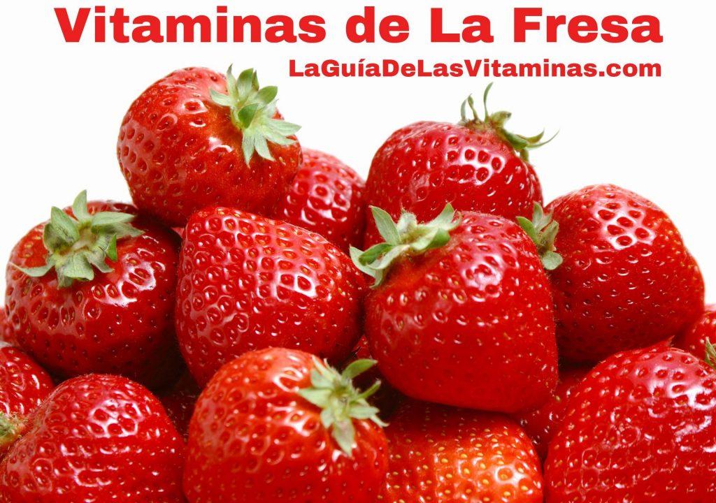 Vitaminas de la fresa