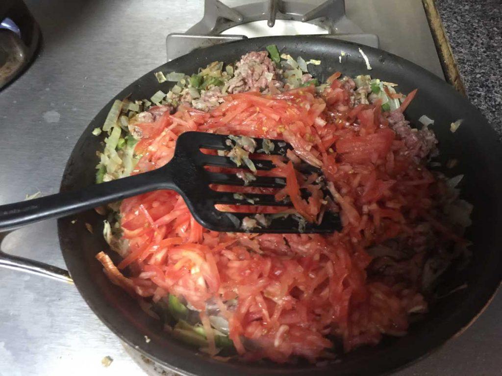 carne-molida-en-un-sarten