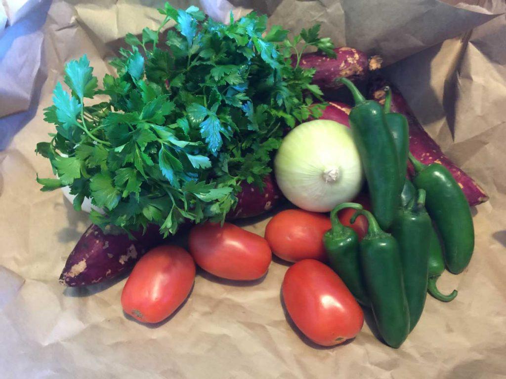 condimentos cebolla tomate chile y camote