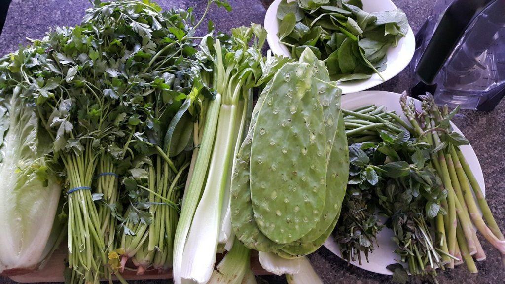 verduras-de-color-verde