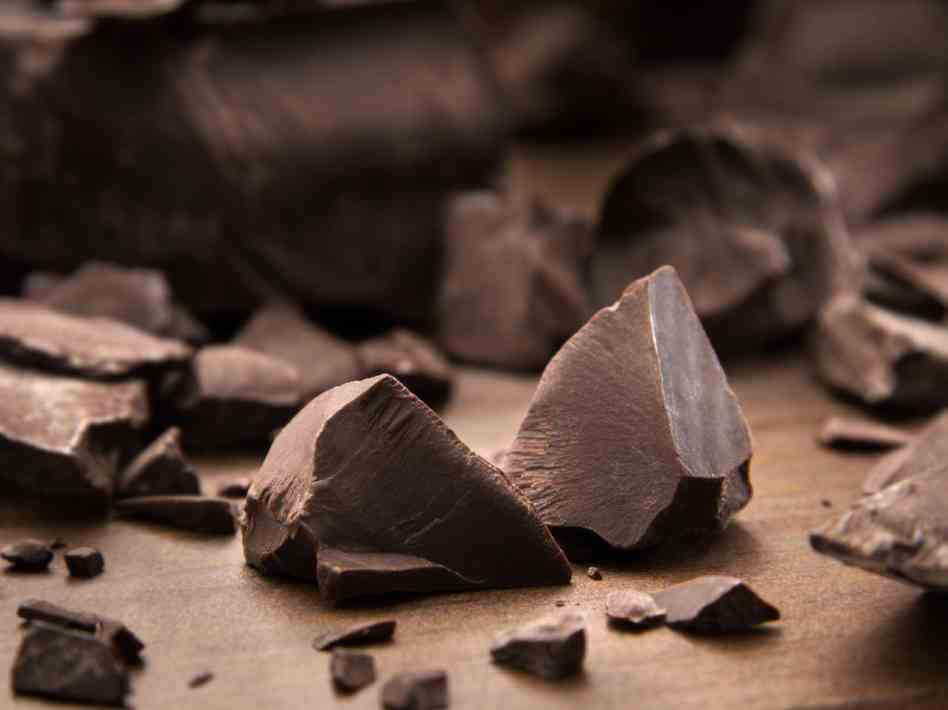 triangulos de chocolate