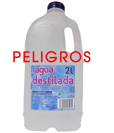 tomar agua destilada hace mal