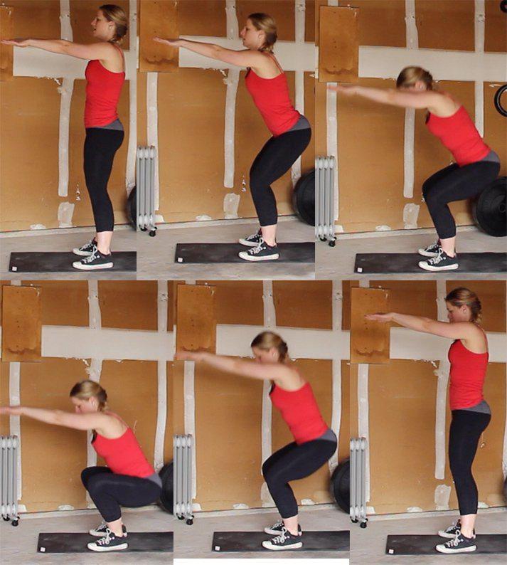 secuencia-de-como-hacer-una-sentadilla-sin-peso