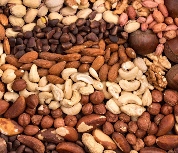 nueces-almendras-cacahuates