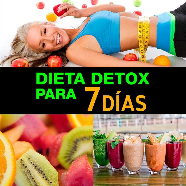 Dieta Detox Para 7 Días Para Eliminar Toxinas Y Bajar De