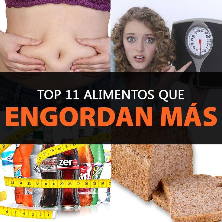 Top 11 de alimentos que engordan m s la gu a de las vitaminas - Alimentos que mas engordan ...